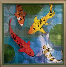 Fish artwork in Dr. Brody's waiting room